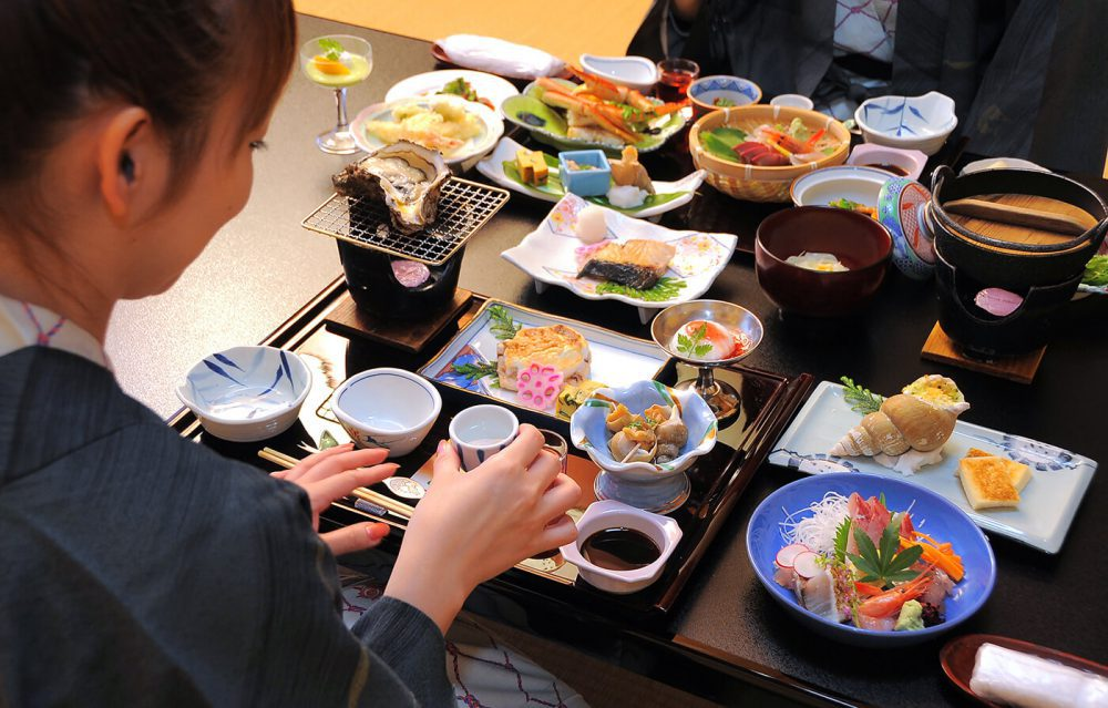 cena en Ryokan