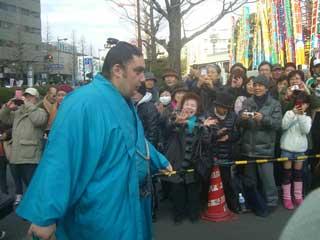 Sumo en Kokugikan en Japón