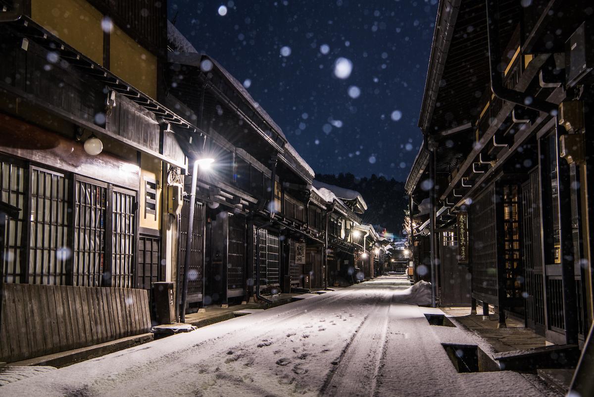 takayama con nieve