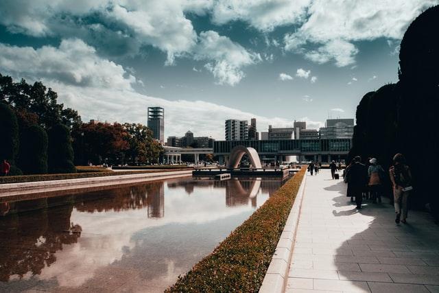 El parque de la paz en Hiroshima