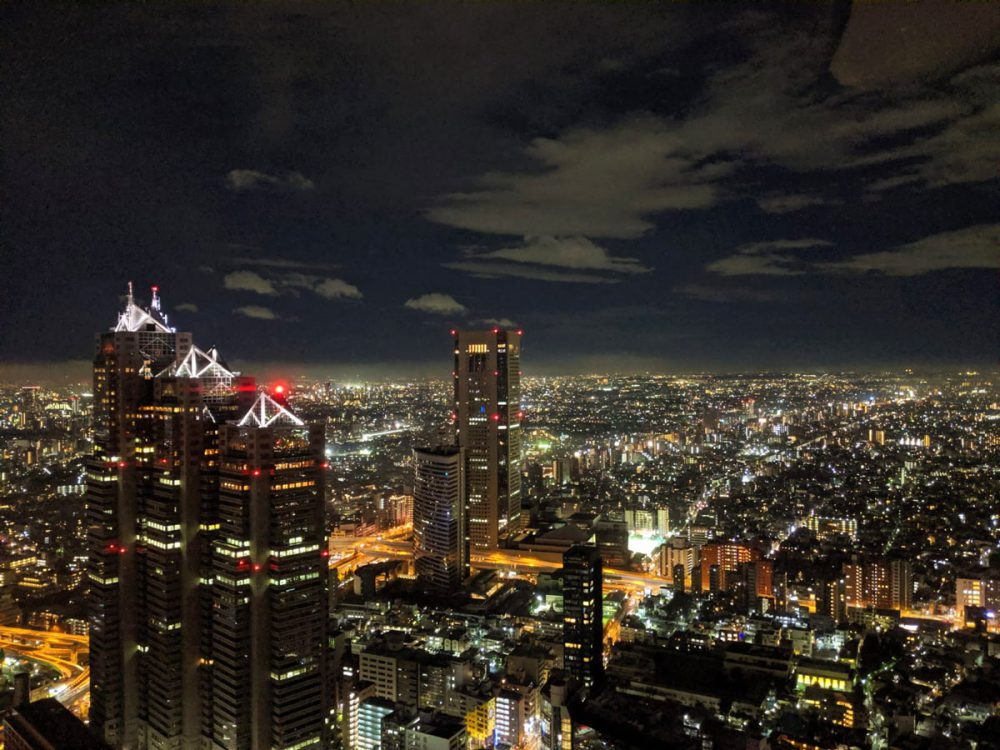 shinjuku en noche de mirador