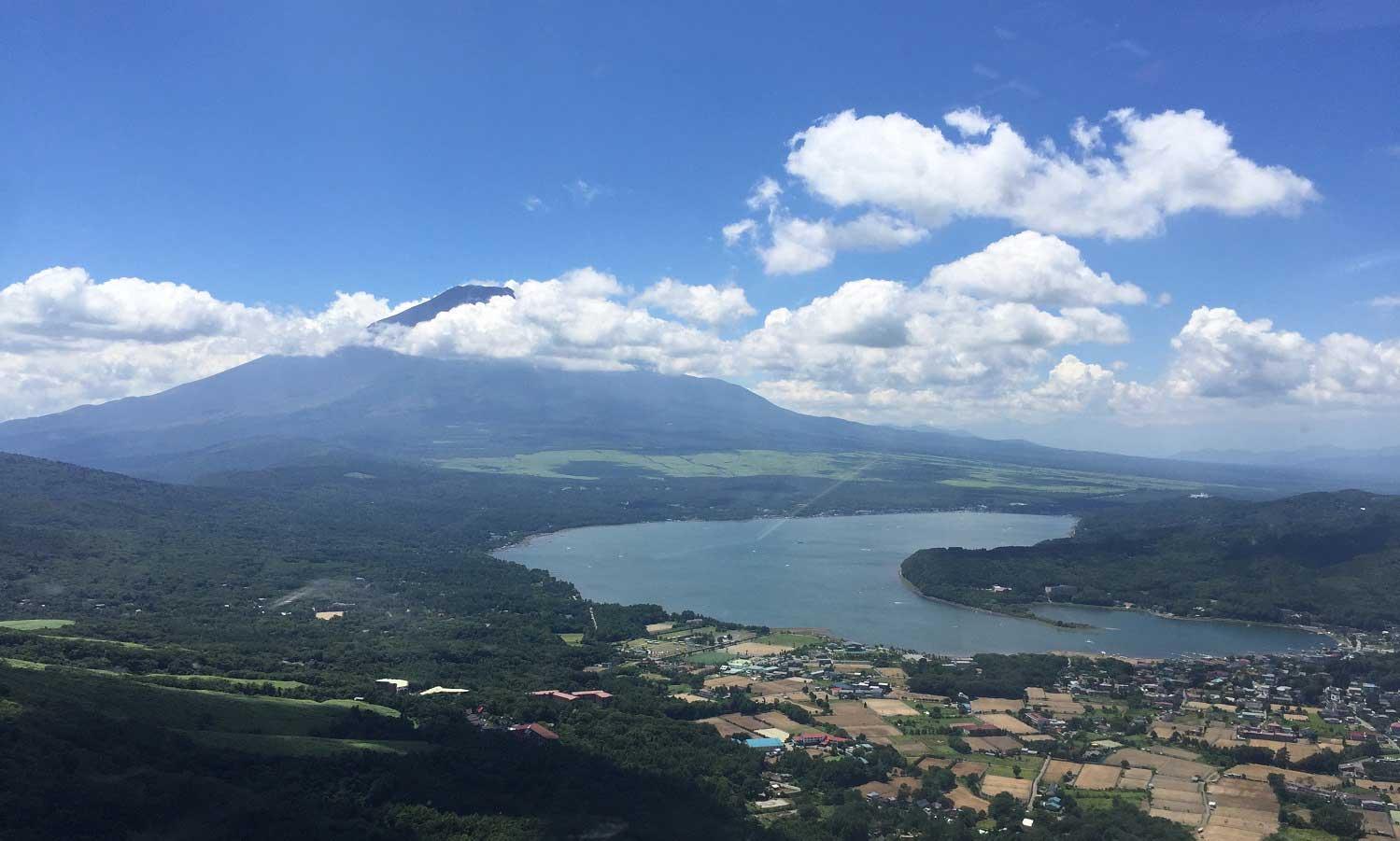 Monte Fuji desde el cielo